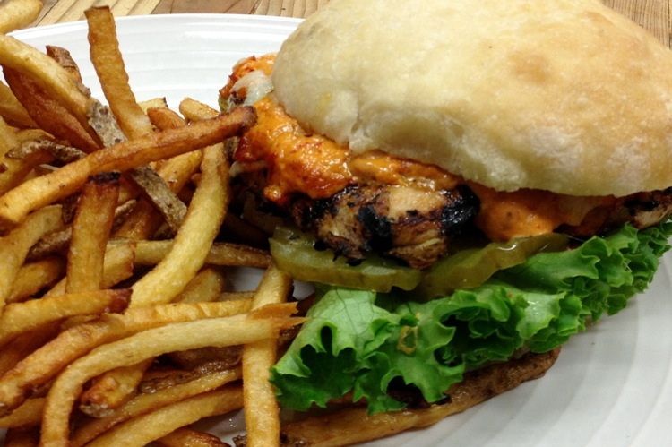 The Farm Bistro grilled chicken sandwich